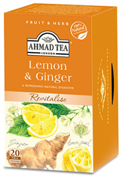 Infusion Ahmad Tea Lemon & Ginger x20